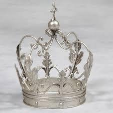 silver crown ornament table decor gift home decor interiors
