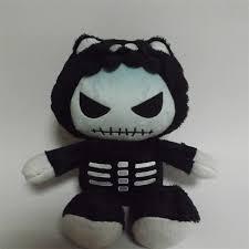 halloween black cat plush toy 25cm soft christmas gift monster