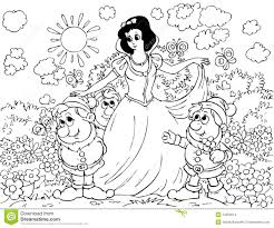 snow white and gnomes stock images image 14559014