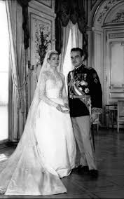 royal wedding dresses on the anniversary of grace s marriage to prince rainier