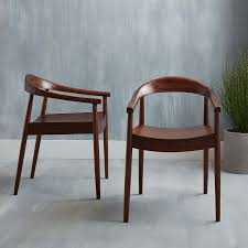Dining Armchairs Upholstered Lena Mid Century Dining Armchair West Elm