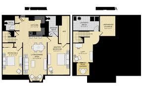 2 bedroom with loft house plans new loft apartment floor plans