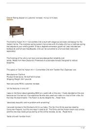 Davinci Kalani 4 In 1 Convertible Crib Reviews Davinci Kalani 4 In 1 Convertible Crib Review