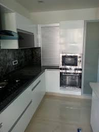 kitchen base cabinet uae l shaped kitchen with black granite top with white glossy