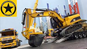 bruder excavator videos for children bruder tunnel project excavator loader