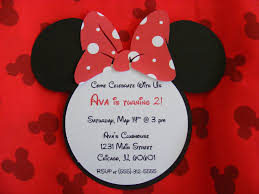 Card Invitation Maker Minnie Mouse Invitation Card Invitation Templates