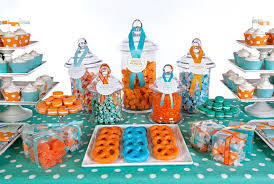 baby shower colors image gallery orange blue baby shower