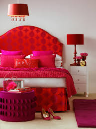 Red And White Modern Bedroom Lovely Red Bed And Comely White Modern Bedside Table With