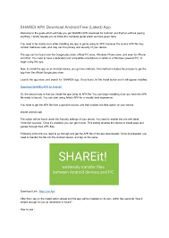 get link apk shareit apk android free app