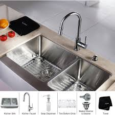 kraus khf203 33 kpf1622 ksd30ch kitchen combo polished chrome