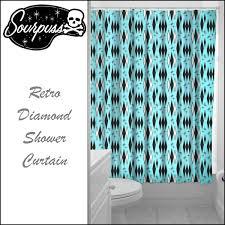 Sourpuss Shower Curtain Qooza Sourpuss Clothing 雑貨