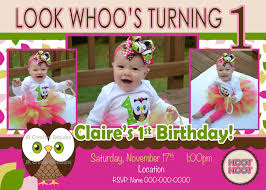 Owl Theme by Owl Invitation Owl Birthday Look Whoos Turning One Invitation
