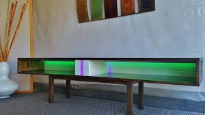 Tv Table Mid Century Modern Inspired Led Media Table Tv Table With Led U0027s