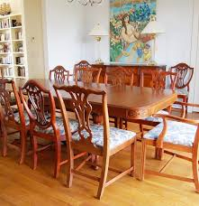 vintage drexel mahogany dining table and chairs for twelve ebth