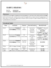resume format doc for fresher accountant sle accountant resume resume template pinterest sle