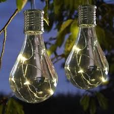 solar powered outdoor light bulbs 10 x solar powered hanging light bulbs solar garden lights clear