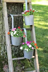 diy galvanized planters and ladder plant stand days of chalk and