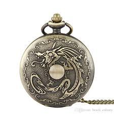 vintage necklace pocket watch images Unique large dragon ball vintage pocket watch bronze pendant jpg