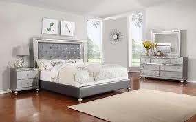 Upholstered Headboard King Bedroom Set Glam 4 Piece King Bedroom Set Rotmans Bedroom Group Worcester