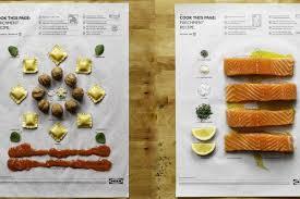 papier sulfuris cuisine génial ikea lance des recettes de cuisine sur du papier cuisson
