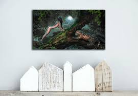 nackt im wohnzimmer a1090 mädchen nackt tierfiguren landschaft hd leinwand druck