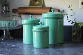 colorful kitchen canisters turquoise kitchen canisters decorating clear