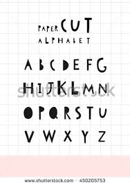 geometric style alphabet letters numbers vector stock vector