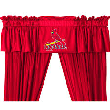 Curtains St Louis Mlb St Louis Cardinals Jersey Bedroom Collection Valance Window