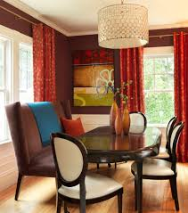 modern red leather dining chairs how to decorate dining hall dining room contemporary with pendant