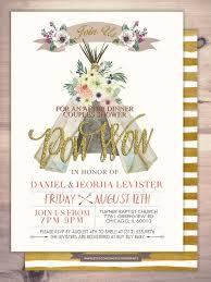 couples shower invitations etsy boho wedding invitation teepee invitation invitation floral