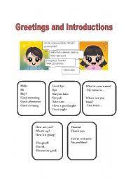 english teaching worksheets greetings and farewells