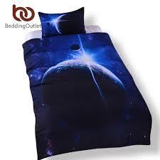 Galaxy Bed Set Beddingoutlet Galaxy Bedding Set Size 3d Earth Moon Print