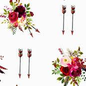 burgundy flowers burgundy flowers fabric wallpaper gift wrap spoonflower