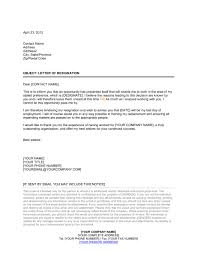 resignation letter moving to another company template u0026 sample