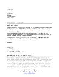 letter of resignation template u0026 sample form biztree com
