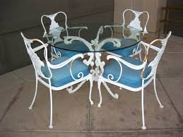 Wrought Iron Patio Furniture Vintage Furniture White Patio Furniture For Comfort Seating Vintage
