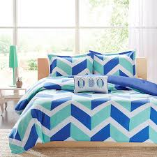 Kid Bedspreads And Comforters Blue Aqua Zig Zag Chevron Teen Bedding Twin Xl Full Queen