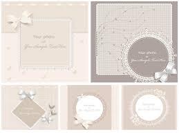 wedding invitation card templates vector free stock vector art