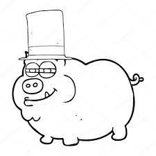imagenes negro rico rico en blanco y negro de dibujos animados de cerdo archivo