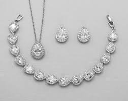 bridal jewelry bridal jewelry set etsy