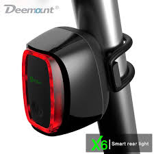 best usb rechargeable rear bike light meilan x6 smart bicycle rear light bike cycling tail l 16 led usb