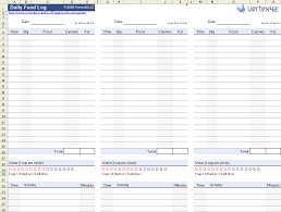 Diet Tracker Spreadsheet The Daily Food Log Template From Vertex42 Com Healthy