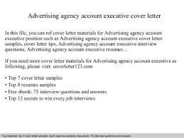 Executive Cover Letter Tips Marketing Account Executive Cover Letter