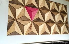 wall decor ideas wood mosaic geometric wood wall amazing