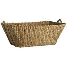 vintage french woven willow laundry basket 195 liked on