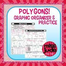Finding Interior Angles Of A Polygon Worksheet Polygons Visual Organizer With Word Bank Get In Shape Math