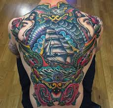 Back Pieces Tattoos 50 Traditional Back Design Ideas For Ink