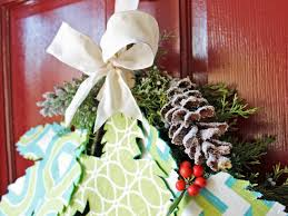 how to make a fabric and evergreen holiday swag hgtv