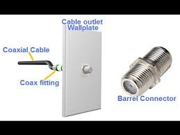 how to install cable outlet using a store bought rg6 coax youtube