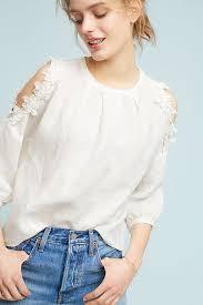 open shoulder blouse floral texture open shoulder blouse anthropologie